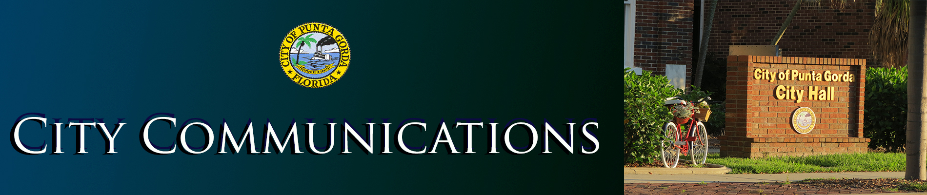 Image of City Logo and City Communications Banner Green
