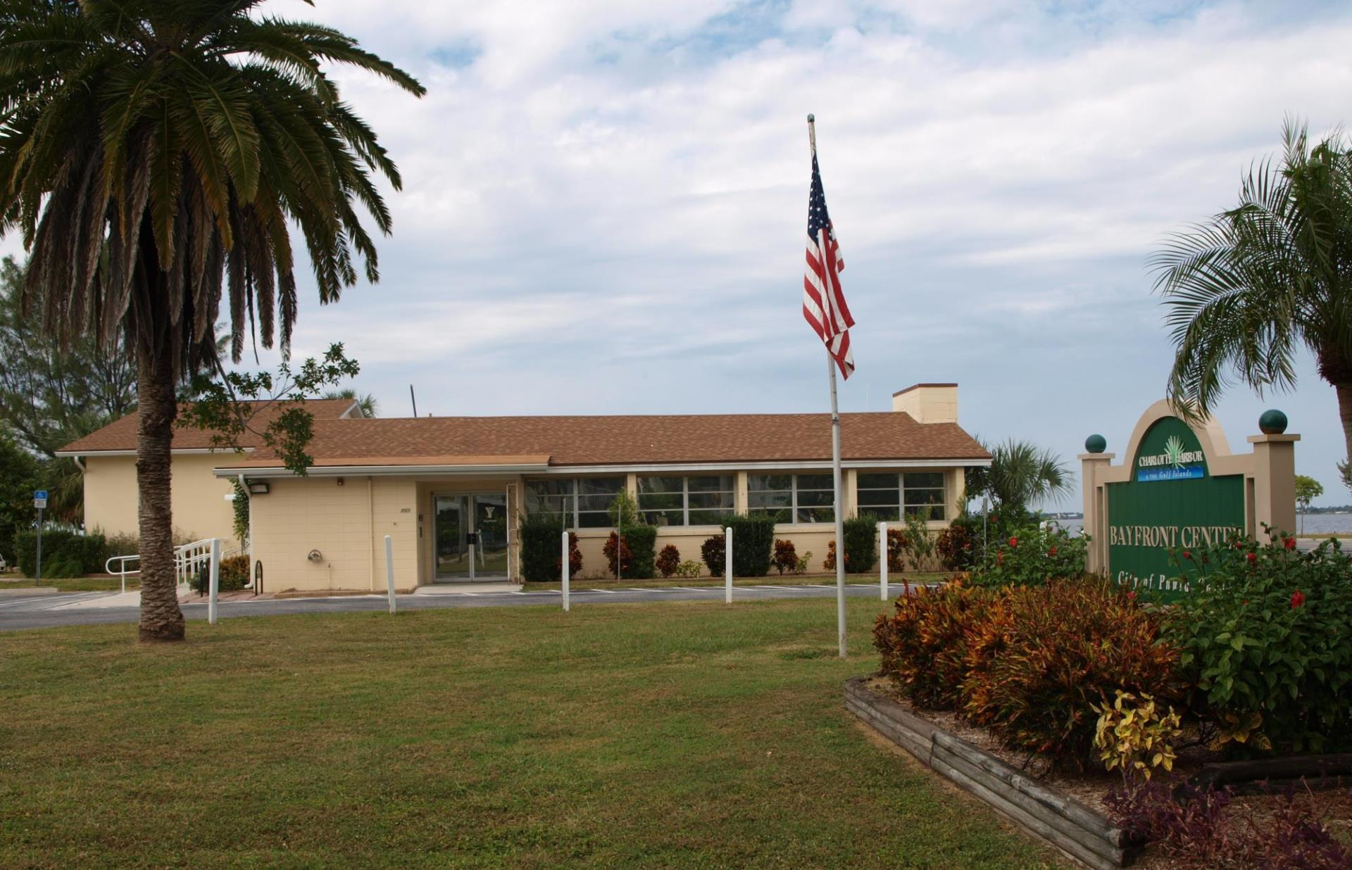 Photo of Bayfront Center one story beige building