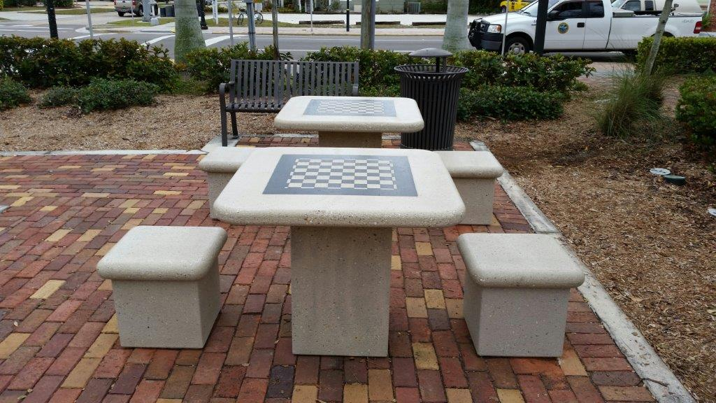 Hector House Plaza Chess Tables