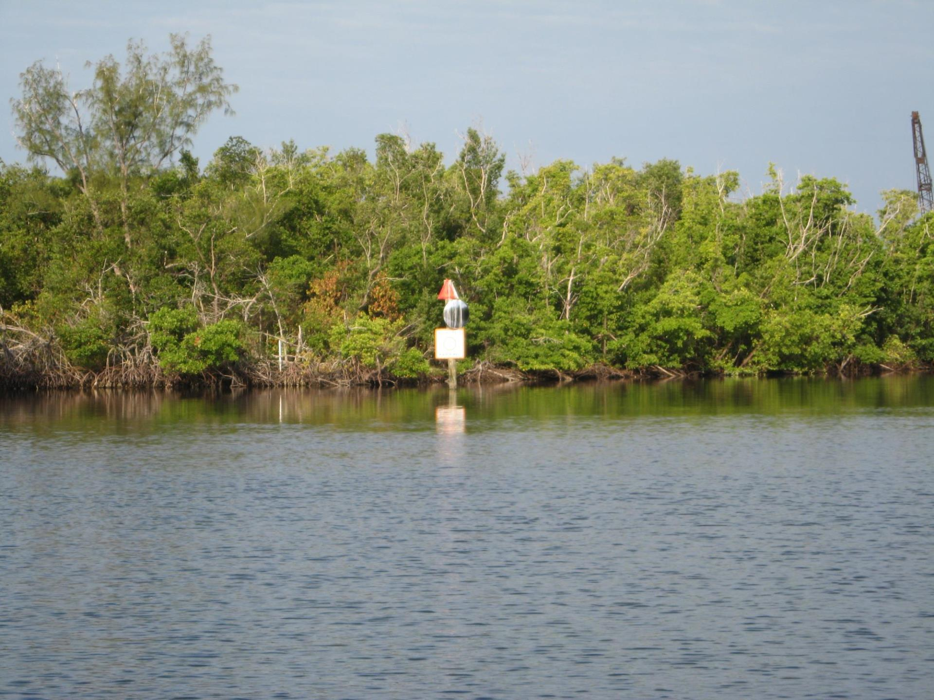 Image of water way markers located in water at Ponce.