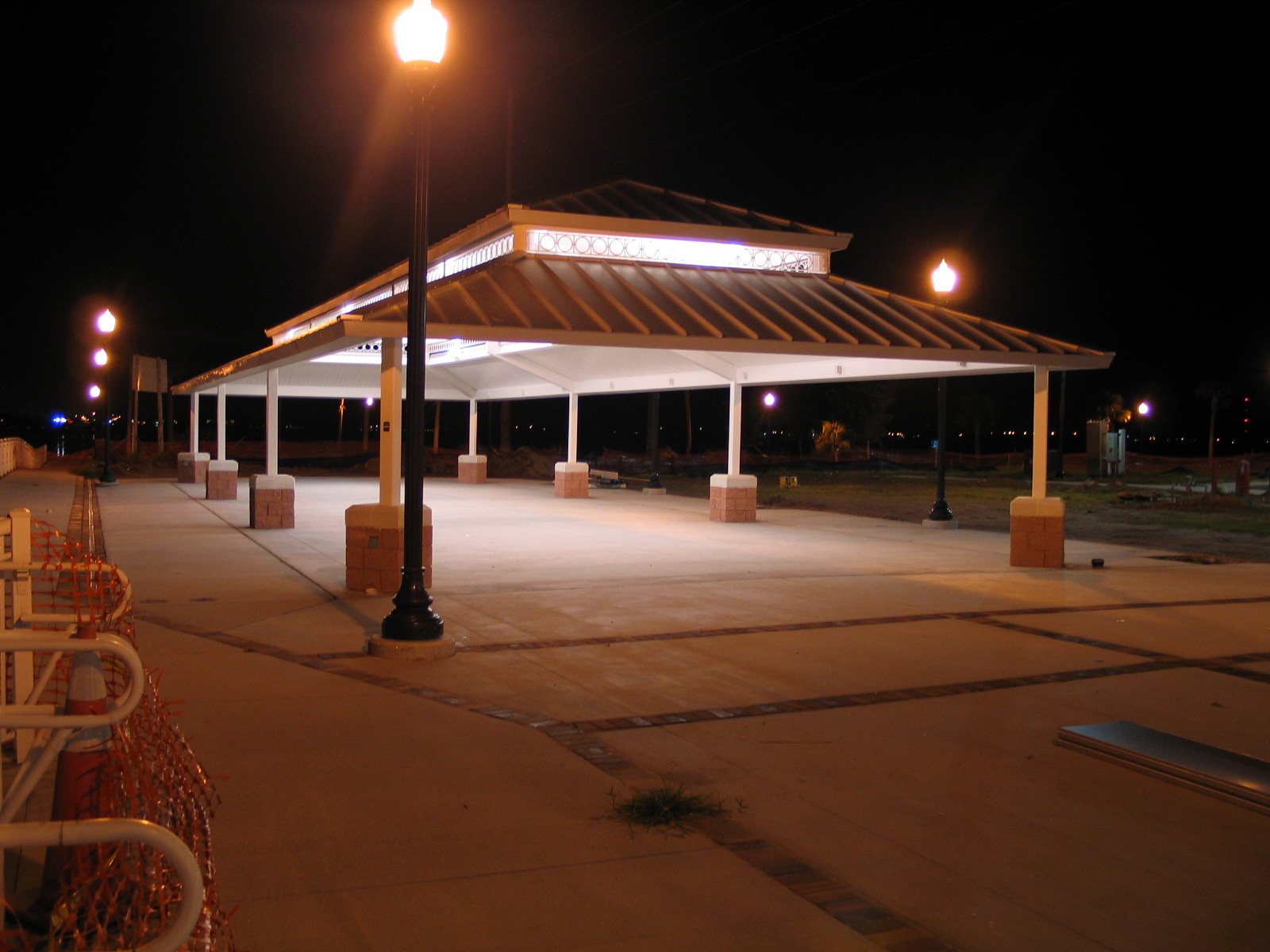 Laishley Pavilion at night