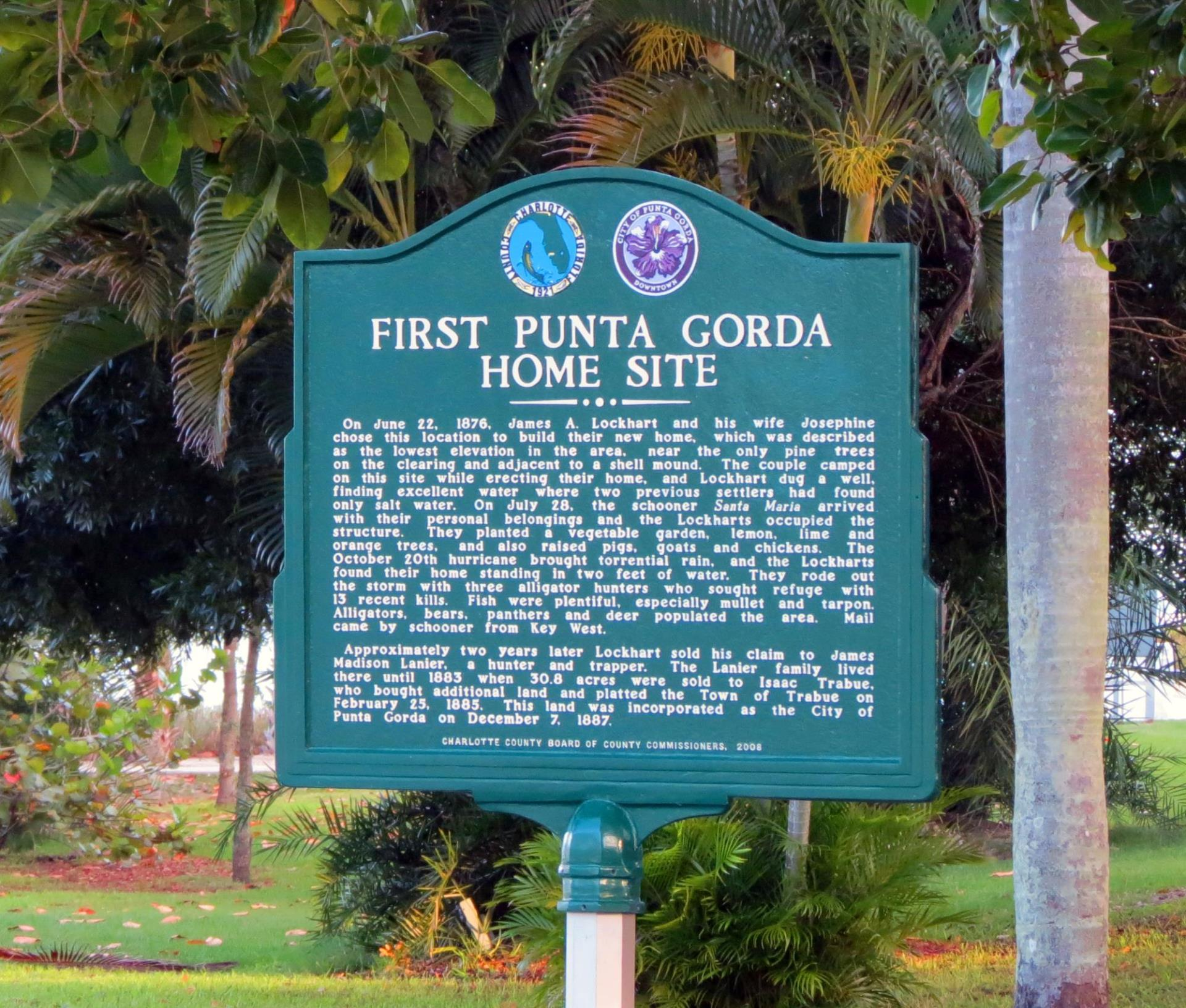 first punta gorda home state sign