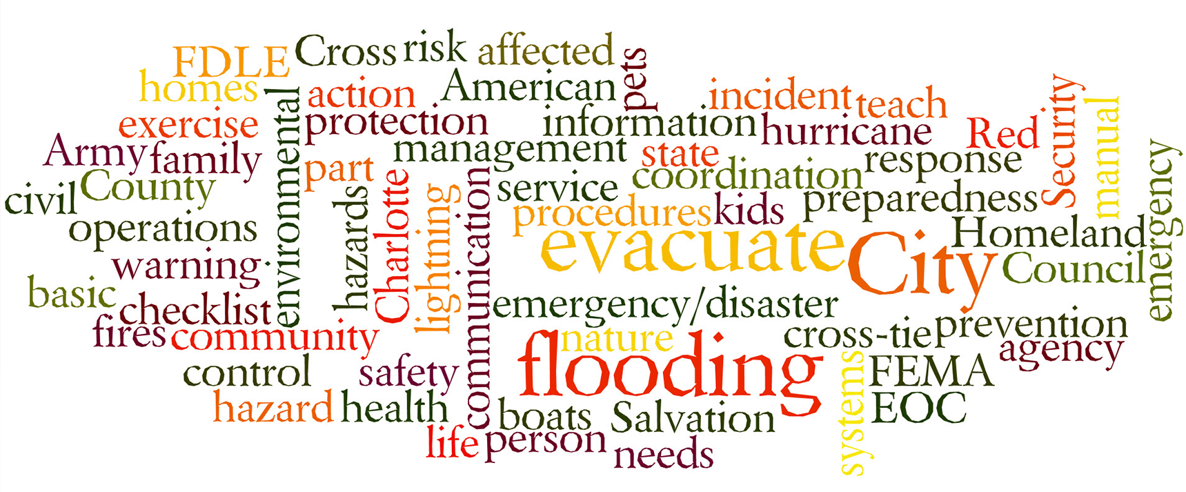 Image of Emergency Preparedness Word Cloud Cover - Key Words