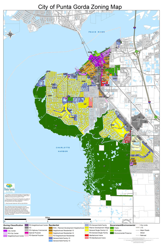 Map Of Punta Gorda Florida.Zoning Districts City Of Punta Gorda Fl