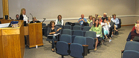 Image of Citizens Academy attendees in Council Chambers.