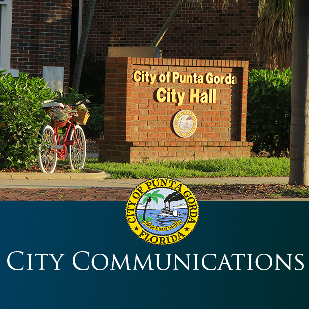 Photo of City Hall Sign for City Communications