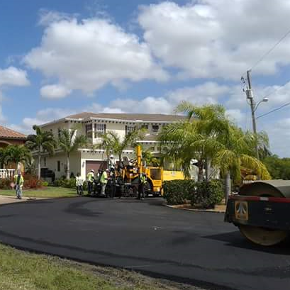 Photo of Street Paving with Industrial Equipment