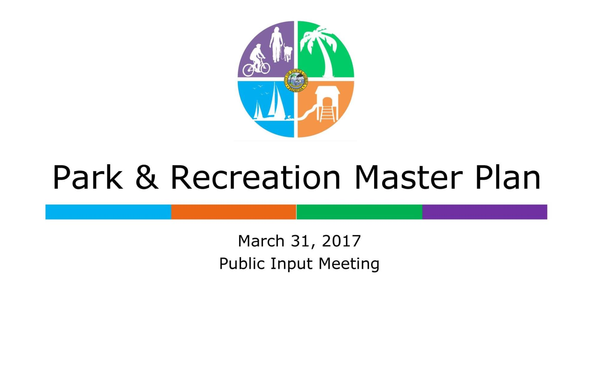 Park & Recreation Master Plan Presentation cover